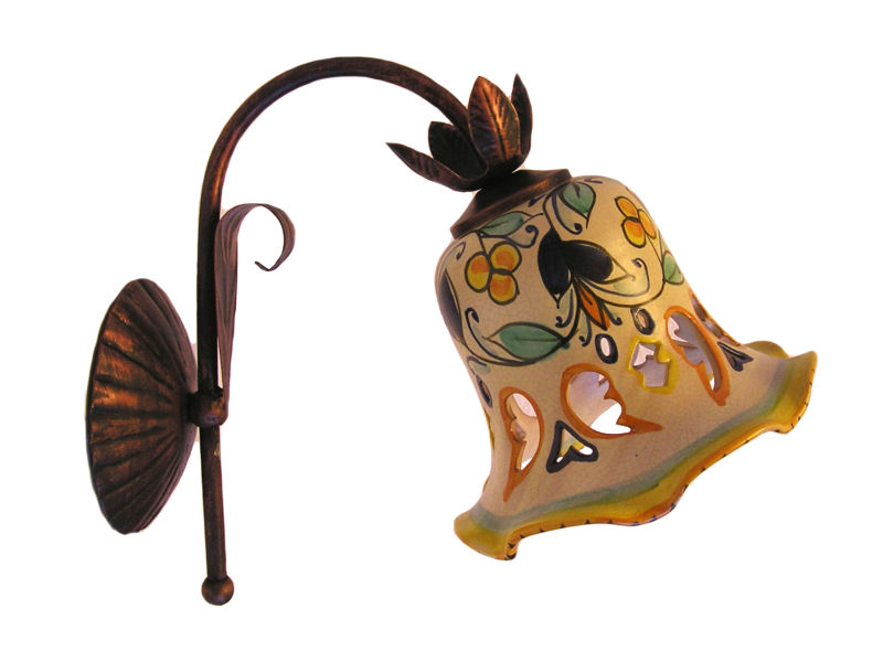 Lumi, Applique, Lampadari in ferro battuto e Ceramica ...